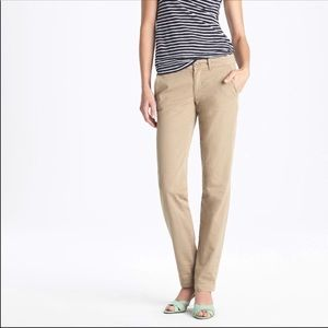 J. Crew Waverly Chino City Fit Size 0 EUC